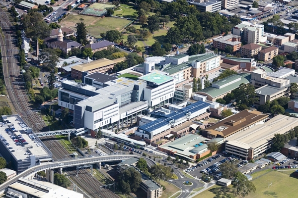 Aerial view of Liverpool Hospital