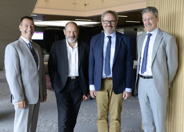 WSROC CEO, Charles Casuscelli; Greater Sydney Commission Environment Commissioner, Roderick Simpson; Director Western Sydney Local Health District Centre for Population Health, Stephen Corbett; and Centre for Western Sydney (WSU) Director, Professor Phillip O'Neill.