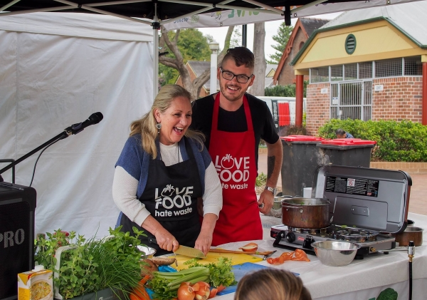 Hawkesbury Mayor Mary Lyons-Buckett at Love Food Hate Waste community event in Richmond.