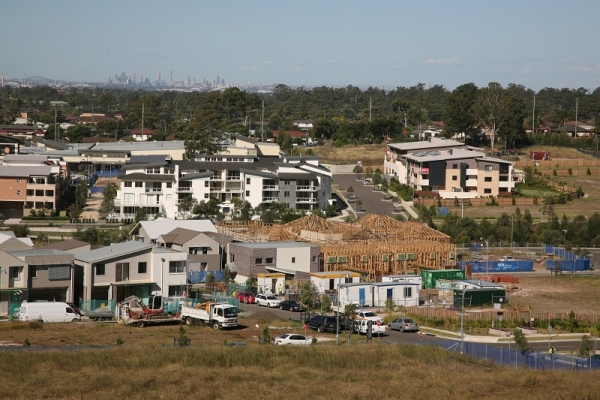 Greenfield development on the edge of Sydney.