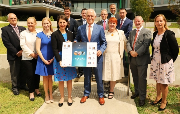 Western City councils with Prime Minister Malcolm Turnbull and Premier Gladys Berejiklian at the signing of the Western City Deal.